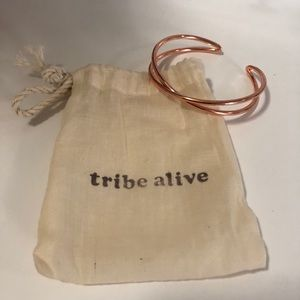 Tribe alive rose gold criss cross cuff